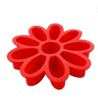 Buy cheap fondant 9 cavity silicone sunflower Silicone Cake Moulds baking pastry product