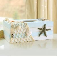 Buy cheap novelty wooden Tissue box nautical style with star decor /tissue paper holder from wholesalers