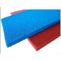 Buy cheap Red Blue Silicone Sponge Sheet Food Grade Silicone Rubber Sheet Open Cell For Iron Table from wholesalers