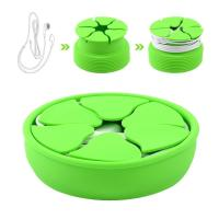 Buy cheap Flexible Mini Green Silicone Earphones Cable Winder free Earbud Cord Storage organizer from wholesalers
