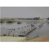 Buy cheap Q345B Steel Heavy Loading Floating Pontoon Bridge Anti Rust Bailey Truss Bridge product
