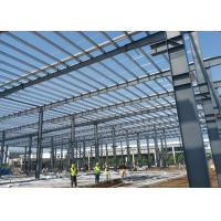 Buy cheap Steel Structure Framed Commercial Office Building, Structural Steel Truss Prefab Construction Workshop with Drawing from wholesalers