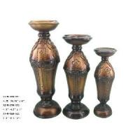 Buy cheap Home Decoration Polyresin Set of 3 Candle Holder (X2-MI0906-13F-G-S) from wholesalers