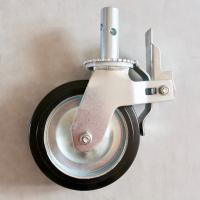 Buy cheap Steel Mobile Scaffolding Caster Wheel / Replacement Metal Caster Wheels from wholesalers