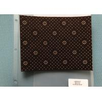 Buy cheap 800gsm Chestnut Neddle Punched  Non Woven Cloth With Flower Dots Backing from wholesalers