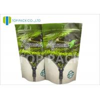 Buy cheap Gravure Printed Flat Foil Stand Up Bags , tea packaging pouch Zip Lock Closure product
