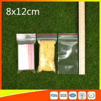 Buy cheap Ldpe Plastic  Reusable Ziplock Bags 8x12 cm With Colorful Line from wholesalers