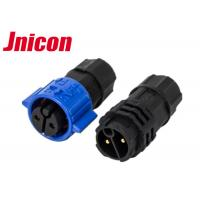 Buy cheap Jnicon Waterproof Male Female Connector , 3 Pin Push Lock Electrical Connectors product