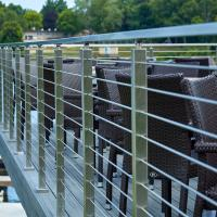 Quality Premade handrails for deck stairs with stainless steel structure for sale