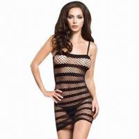 Buy cheap Fangtracer Black Sexy Lingerie/Halter Mesh Babydoll/Body Stocking, Suitable for Women from wholesalers