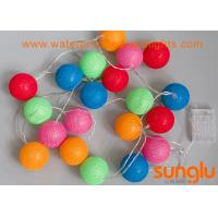 Buy cheap 3.3 Meter Mini LED String Lights Ball Shape Cotton Ball For Festival Party Decoration from wholesalers