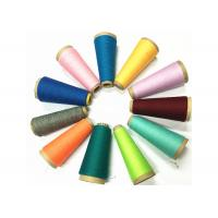 China Recycled Dyed Polyester Yarn , Semi Dull Yarn For Leather Product Sewing on sale