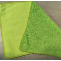 Buy cheap Green Twisted Recombination Terry Fabric Microfiber Dust Mop 25*35cm 480gsm product