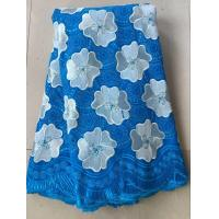 Buy cheap Light blue china swiss voile lace sunflower cotton special swiss voile dry lace for clothes from wholesalers