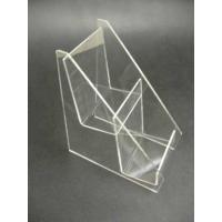 Buy cheap 2 Tier 4mm Acrylic Stationery Holder Eco-Friendly Book Display Stand product