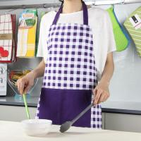 Buy cheap Purple Color Small Checker Pattern Bib Style Home Kitchen Apron 70x80cm or Customized from wholesalers