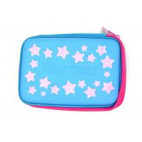 Buy cheap Multi Functional Custom Pencil Case Hard With EVA Plate Materials , Blue Color from wholesalers