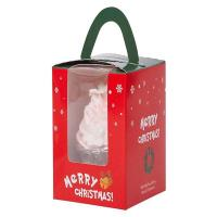 Buy cheap Christmas cupcake box with handle  Cupcake packaging gift box with PET clear window from wholesalers