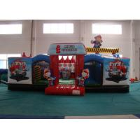 Buy cheap Customized Fire Truck Design Inflatable Fun City Fireproof inflatable fire engine 8 X 6 X 5m In Public from wholesalers