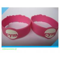 Buy cheap Unique flouncing edge debossed silicone bracelet from wholesalers