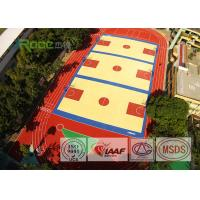 Buy cheap Colorful EPDM Rubber Running Track Surface , Outdoor Running Track Flooring from wholesalers