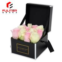 Buy cheap Unique Black Cardboard Box , Customize Preserved Rose Packaging Box from wholesalers