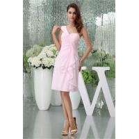 Buy cheap Knee-Length Light Pink Chiffon One Shoulder Bridesmaid Dress from wholesalers