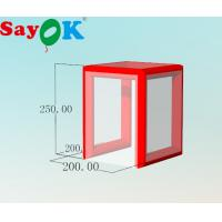 Buy cheap Fast Built Oxford Cloth Cube Medical Isolation Tent Disinfection Channel for medical urgency from wholesalers