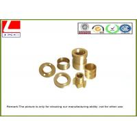 Buy cheap CNC lathe parts smooth finish Brass shaft Computer Numerical Control from wholesalers