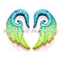 Buy cheap Angel Wing Ear Plugs Gauges / Custom Body Jewellery Ear Stretcher from wholesalers