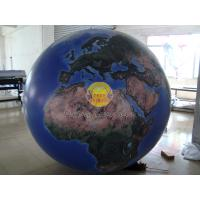 Buy cheap 2m Huge Inflatable Helium Earth Balloons Globe with Total Digital Printing with 540*1080 dpi for Trade show from wholesalers