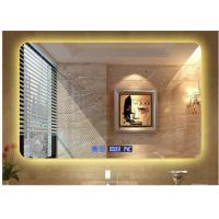 Buy cheap Modern Illuminated LED Bathroom Mirror With Radio Waterproof Rectangle from wholesalers