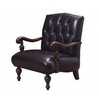 Buy cheap Genuine leather Cow split and Cottom Fabric with High density sponge Classic design Leisure Armchair and Lounge sofa from wholesalers