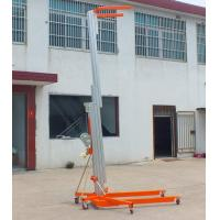 Buy cheap Blue Color Manual Pallet Stacker , Manual Forklift Stacker Telescoping Lift High Strength from wholesalers