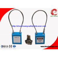 Buy cheap Stainless Steel Safety Cable Shackle Padlock with 150mm Length 3.2mm Thickness from wholesalers