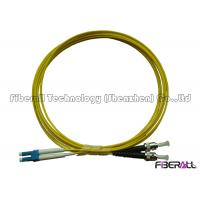 Buy cheap Data Center Singlemode Fiber Optic Jumper LC To ST Fiber Patch Cable Low Insertion Loss from wholesalers