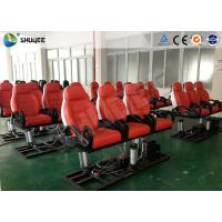 Buy cheap Red Luxury Cinema Seats 7D Movie Theater With Interactive Gun shooting Games product