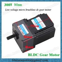 36v 48v 72v 300w Low Voltage Bldc Gear Motor Reduction