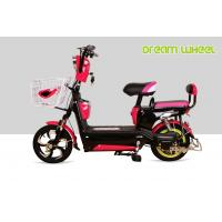 Buy cheap 2 Wheel Pedal Assist Electric Bike Pink 48V 20Ah Lead Acid Gel Battery Suspension Fork from wholesalers