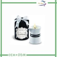 Buy cheap ODM Natural Decorative Round Candle Box Packaging With Tray from wholesalers