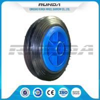 Buy cheap Plastic Rim Solid Rubber Wheels SGS , Elastic Solid Rubber Tires For Lawn Carts from wholesalers