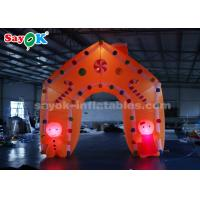 Buy cheap Gingerbread Man Candy Sticks Christmas Inflatable Arch With LED Light from wholesalers