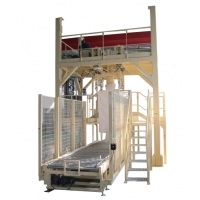 Buy cheap Carbon Black Packing Machine Industrial Packing Scale Ton Bag Bagging Equipment FIBC Packer from wholesalers