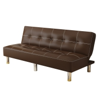 Buy cheap Space Saving Brown PU Leather Home Sofa Bed from wholesalers
