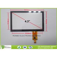 Buy cheap 4.3 Inch Capacitive Touchscreen P + G Structure Multi Touch With I2C Interface from wholesalers