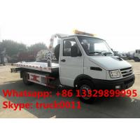 Buy cheap 2017s IVECO 4*2 LHD 3tons wrecker tow truck for sale, factory sale best price IVECO brand diesel  flatbed towing truck from wholesalers