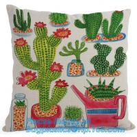Buy cheap Pillow Case Cover Reusable Eco Bags Cushion Cover Chevron Design Cushion Cover In Gre from wholesalers