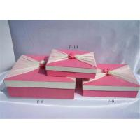 Buy cheap Pink Biodegradable Cardboard Paper Folding Gift Boxes For Stationery from wholesalers