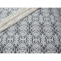 Buy cheap Grey Voile Cotton Nylon Lace Fabric / Elastic Knitted Lace Fabric SYD-0003 from wholesalers