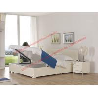 Buy cheap Pure White painting bedroom furniture set by storage bedstead in fashion Apartment design from italy product